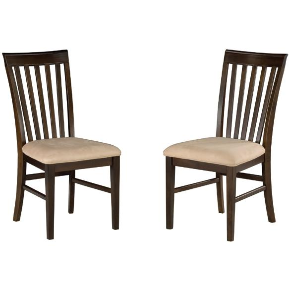 Atlantic Furniture 7001420 Mission Dining Chairs Antique Walnut W/ Oatmeal Cushion (Set Of 2 Chairs)