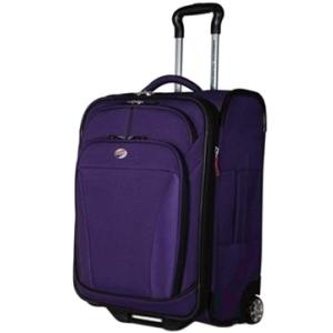 American Tourister ILite DLX 21 Inch Carry-On Rolling Luggage - Purple