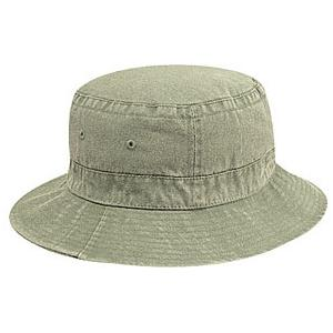 Otto Cap Washed Pigment Dyed Cotton Twill Bucket Hat S/M - Khaki
