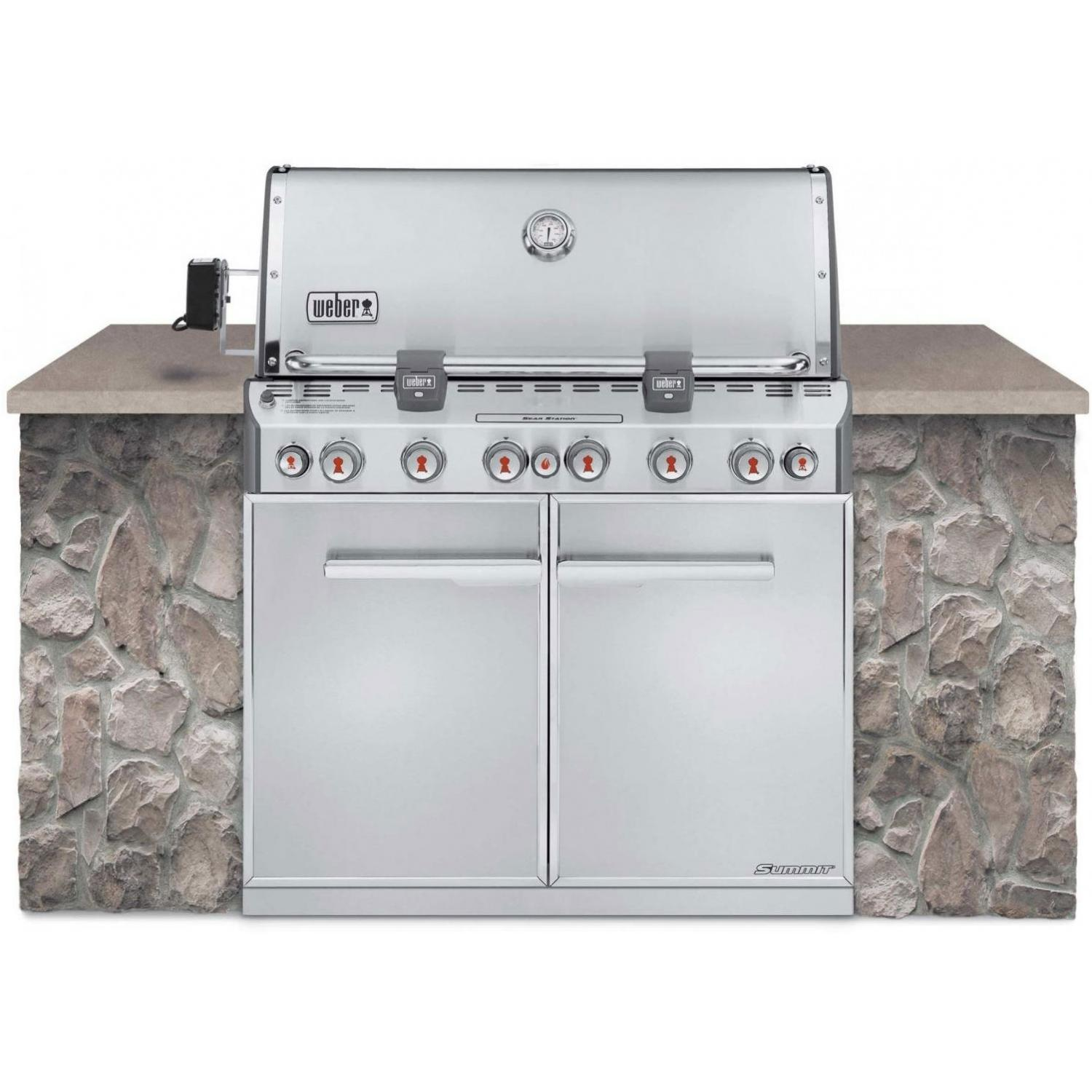Weber Summit S-660 Built-In Propane Gas Grill With Rotisserie & Sear Burner 2786302
