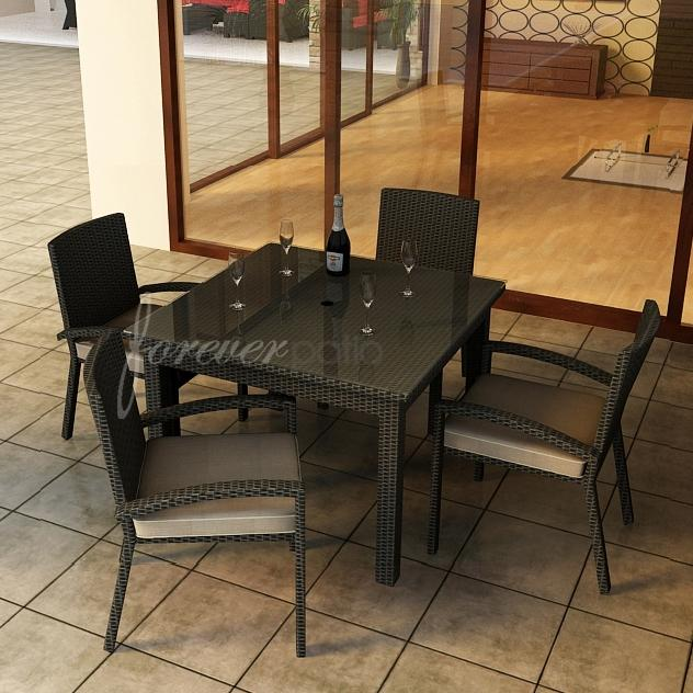Forever Patio Barbados 4 Person Resin Wicker Patio Dining