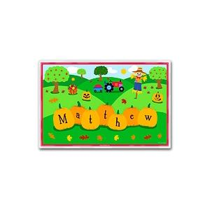 Olive Kids Personalized Laminate Placemat - Fall
