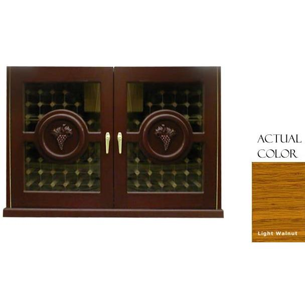 Vinotemp 224 Bottle Concord Series Wine Cellar Credenza - Glass Doors / Light Walnut Cabinet - VINO-296CONCORD-LTWA