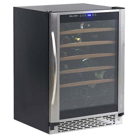 Avanti WC55SSR 52 Bottle Built-In Or Free-Standing Wine Cooler - Glass Door / Stainless Steel Trim
