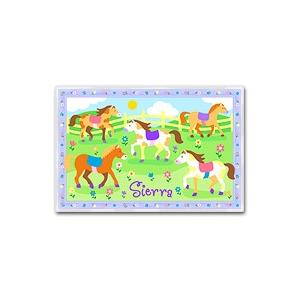 Olive Kids Personalized Laminate Placemat - Patchwork Ponies