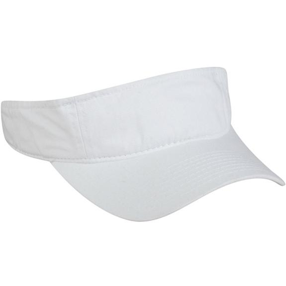 Outdoor Cap Garment Washed Twill Visor - White, Discount ID GWTV-100-100