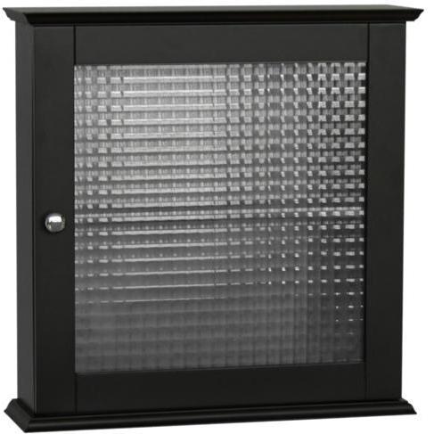 Elegant Home Fashions Chesterfield Medicine Cabinet, 1 Glass Door 6193