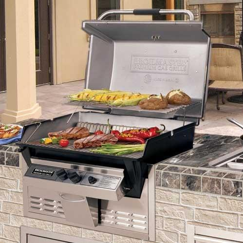 Broilmaster R3b Infrared Combination Propane Gas Grill Built In