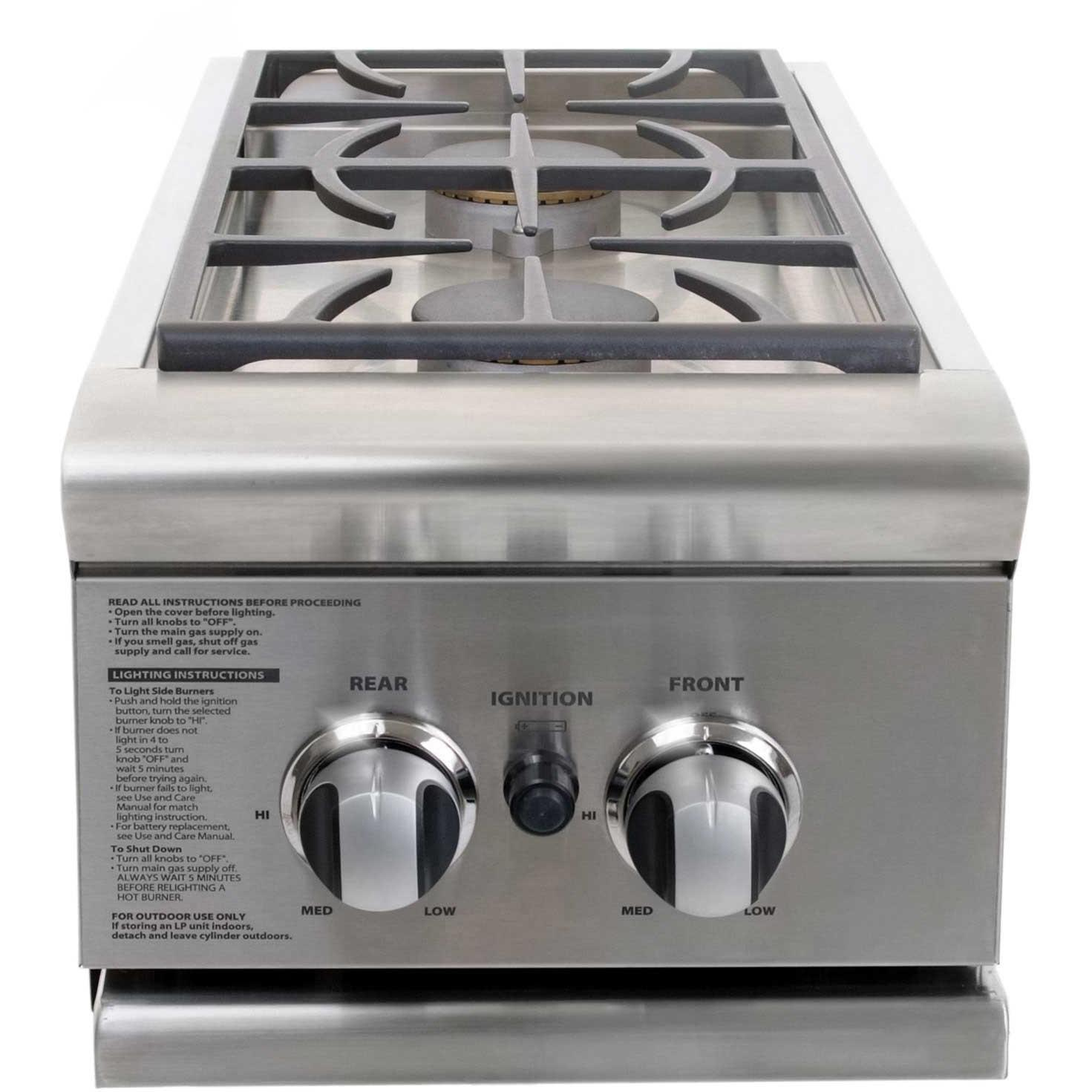 DCS Propane Gas Double Side Burner For DCS BGB30-CSS Cart BGB132
