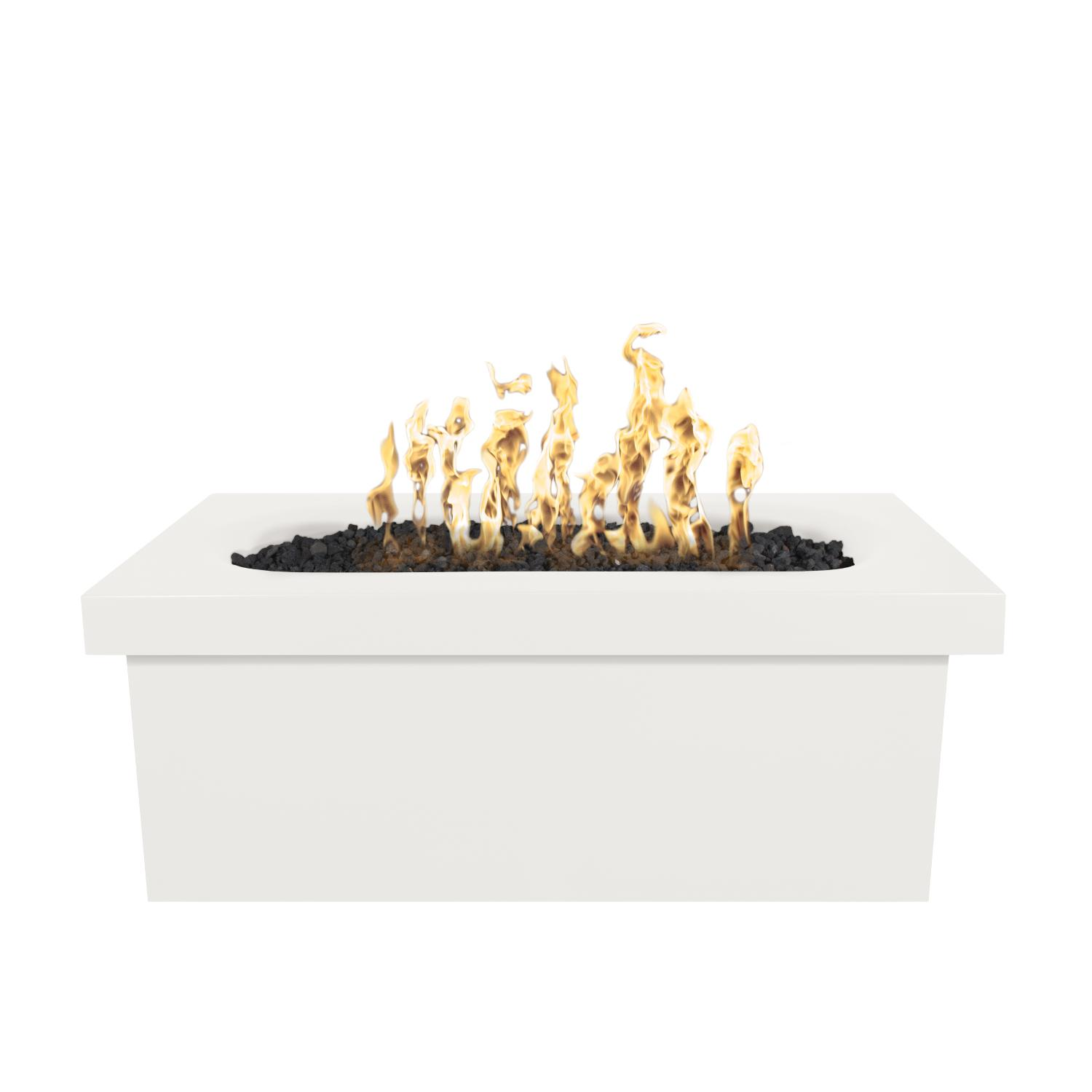 The Outdoor Plus Top Fires by Ramona 60 Propane Fire Table - Limestone Concrete - Match Light - OPT-RMNRT60-LIM-LP