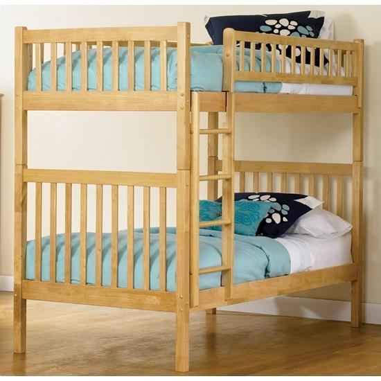 Atlantic Furniture 2000500 Arizona Twin / Twin Bunk Beds Natural Maple