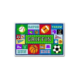 Olive Kids Personalized Laminate Placemat - Game On Boy