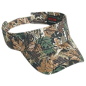 Otto Cap Camouflage Cotton Twill Sun Visor - Lt.Loden / Brown / Kelly, Discount ID 107-753-180705