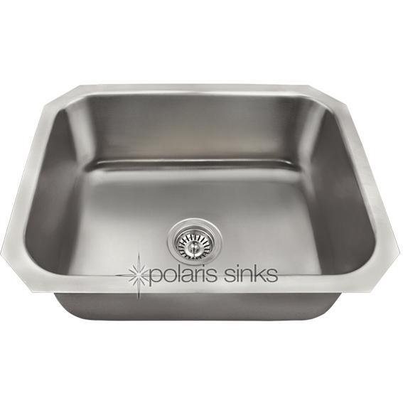 Polaris Sinks Polaris 23 X 18 Single Bowl Stainless Steel Undermount Sink at Sears.com