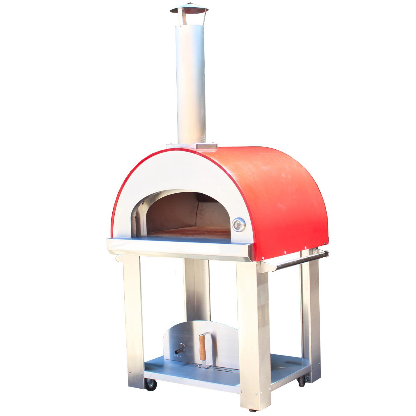 Bella Grande C32 (32 Inch) Wood Fired Outdoor Pizza Oven On Cart