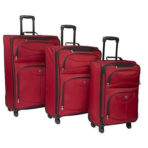 American Tourister 4-Piece Luggage Set - Red