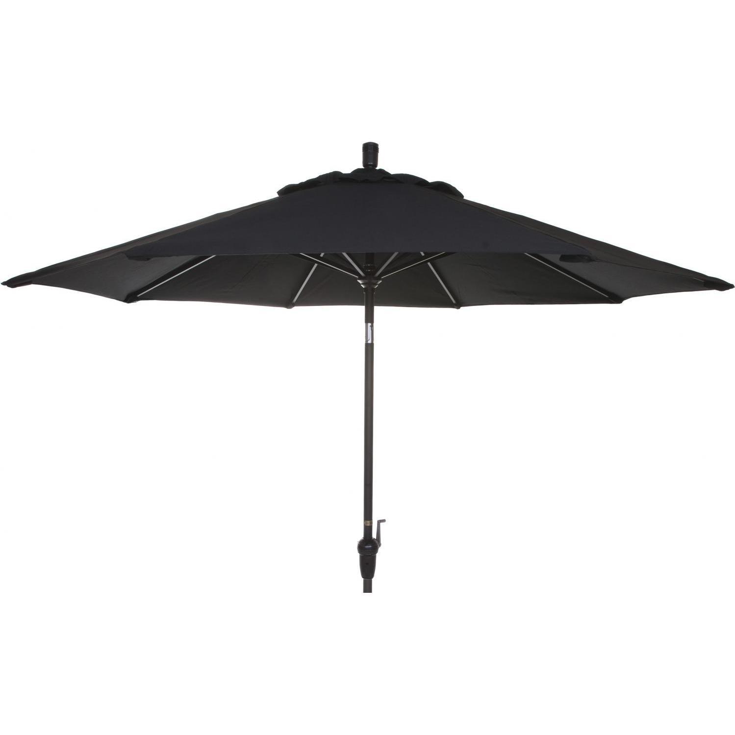 9 Ft Aluminum Patio Umbrella - Black 2856526