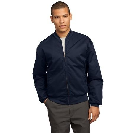 CornerStone Team Style Slash Pocket Jacket Large - Navy