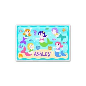 Olive Kids Personalized Laminate Placemat - Mermaids