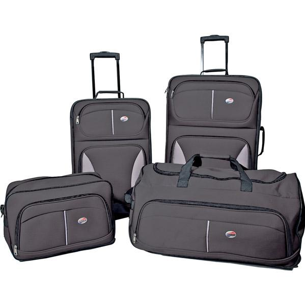 American Tourister Fieldbook 4-Piece Luggage Set - Black