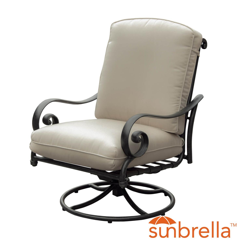 Elysian Aluminum Swivel Rocking Patio Club Chair W/ Sunbr...