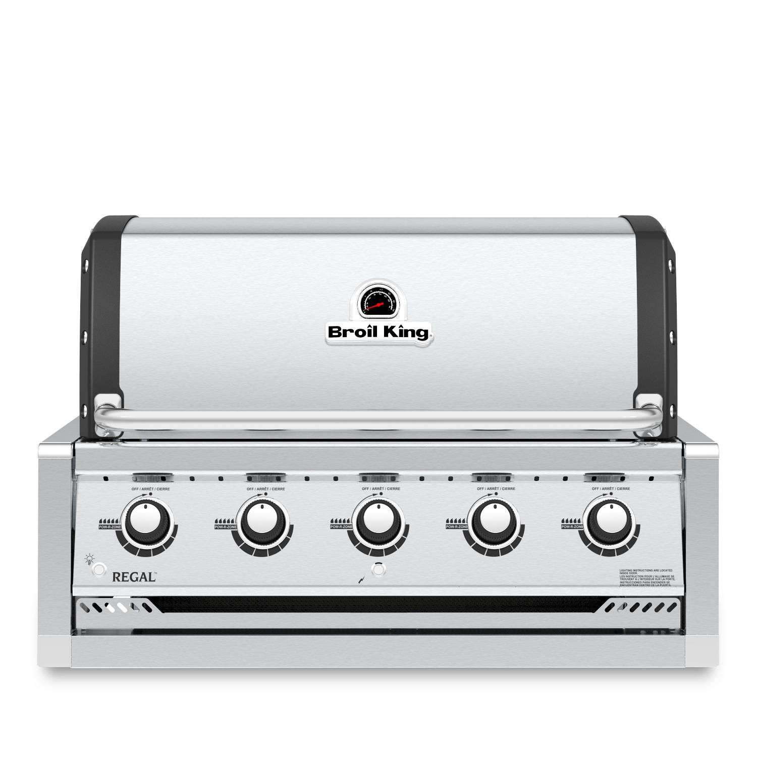 Broil King Regal S520 5-burner Built-in Propane Gas Grill - Stainless Steel - 886714