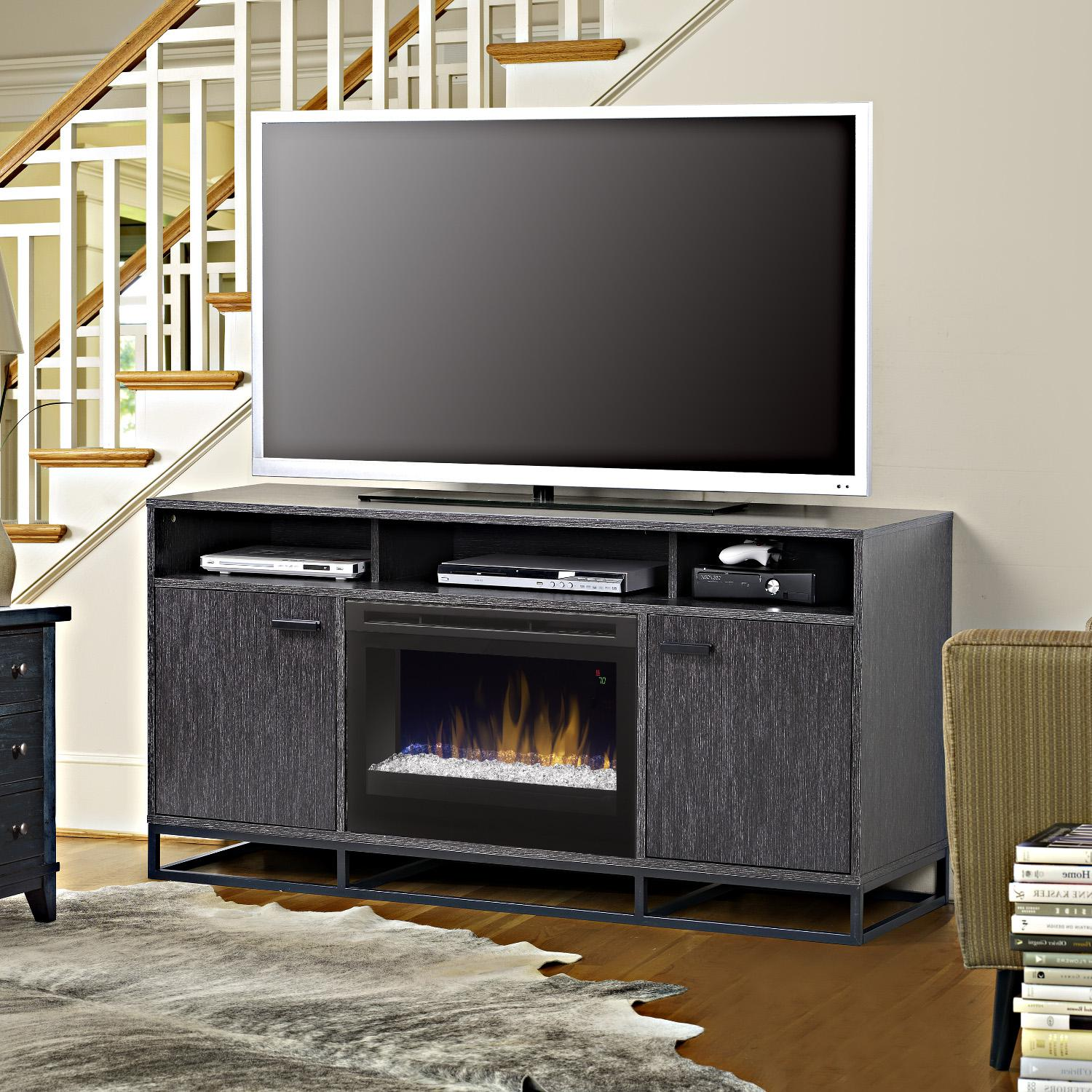 Dimplex Reily 64-Inch Electric Fireplace Media Console - ...