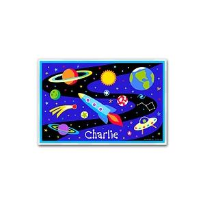 Olive Kids Personalized Laminate Placemat - Out Of This World