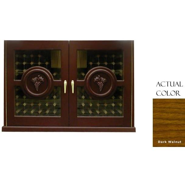 Vinotemp 224 Bottle Concord Series Wine Cellar Credenza - Glass Doors / Dark Walnut Cabinet - VINO-296CONCORD-DKWA