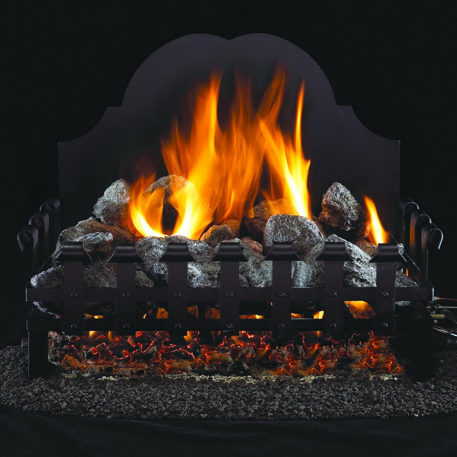Peterson Real Fyre 18-inch Old English Coal Grate Log Set With Vented G4 Burner at Sears.com