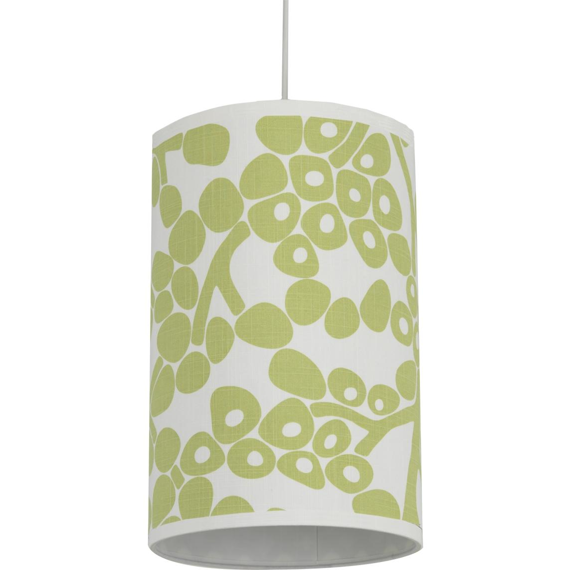Oilo Cylinder Hanging Lamp - Modern Berries Spring Green