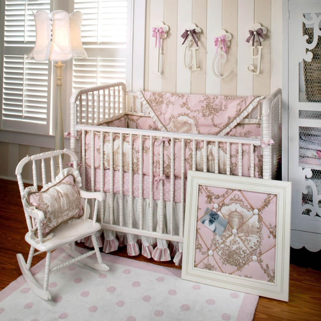 New Arrivals Crib Bumper - English Rose Garden