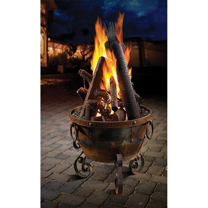 Firegear Ironwood Natural Gas Fire Pit Bowl With Log Sculpture