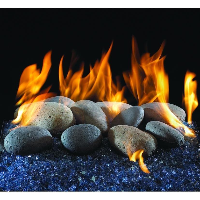 Peterson Gas Logs Decorative Terracotta River Rock Fyre Stones