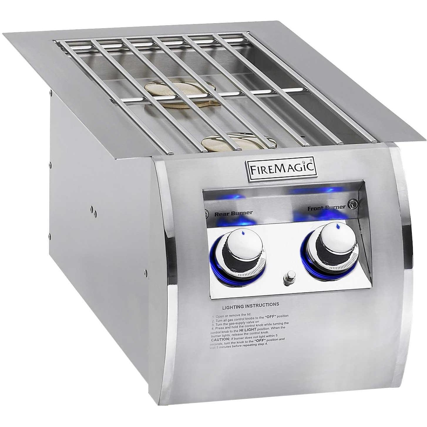Fire Magic Echelon Diamond Propane Gas Built In Double Side Burner