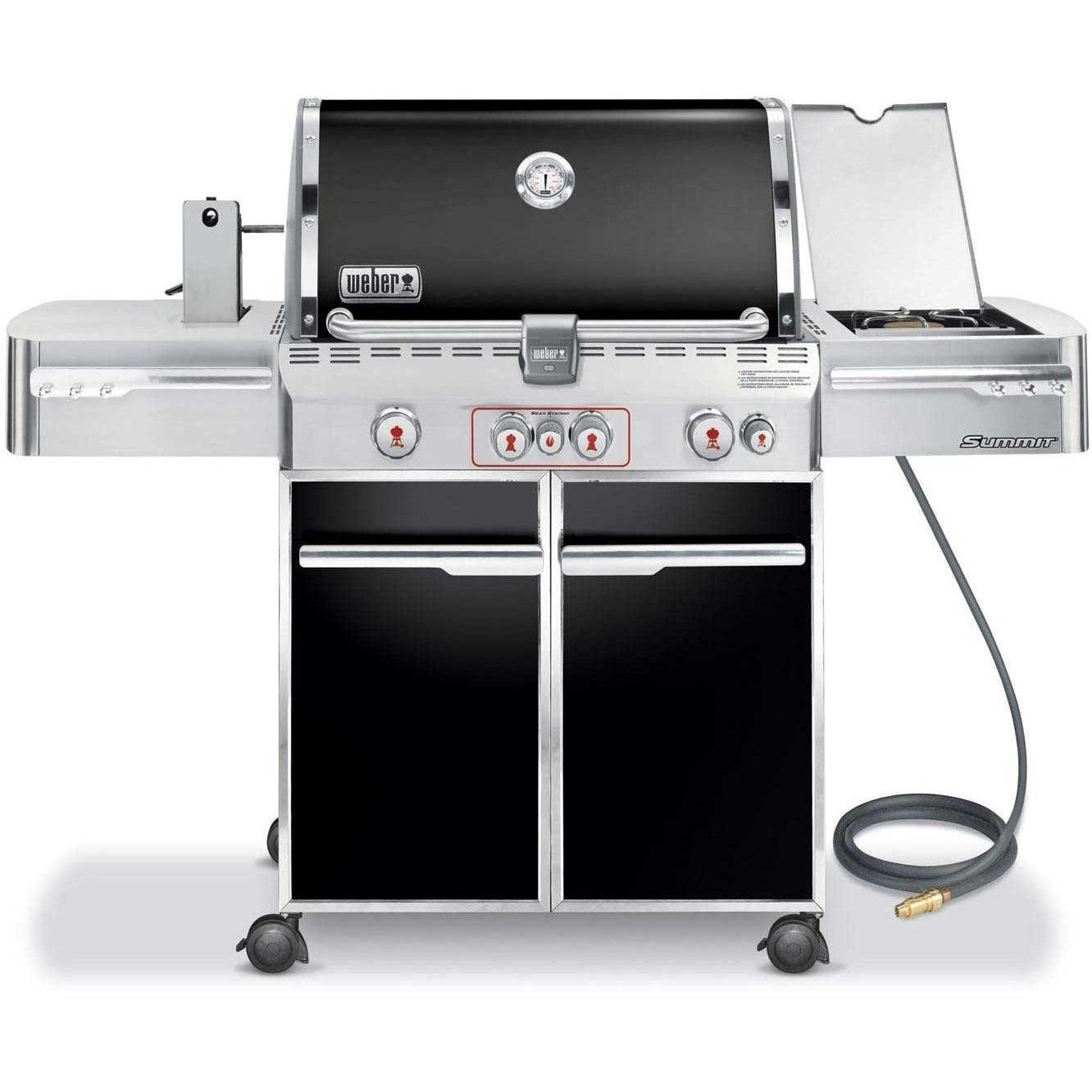 Weber Summit E-470 Natural Gas Grill On Cart With Rotisserie, Sear Burner & Side Burner - Black 2678710