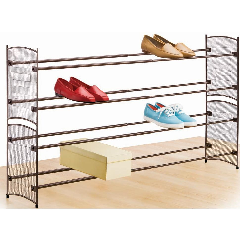 Lynk Expandable/Stackable Mesh Sided Shoe Rack - 146101DS