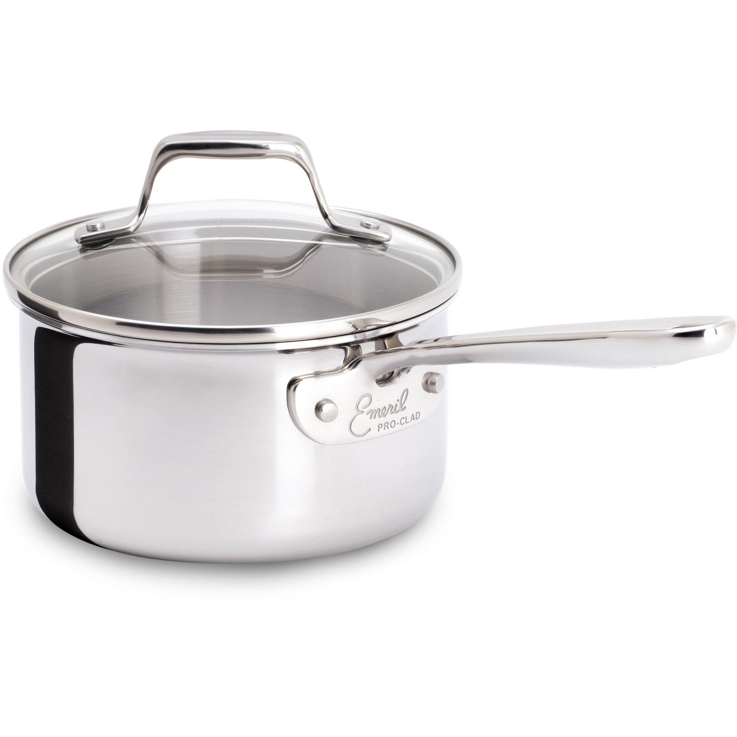 Emerilware By All-Clad 1-Quart Pro-Clad Stainless Sauce Pan And Lid - E9832164