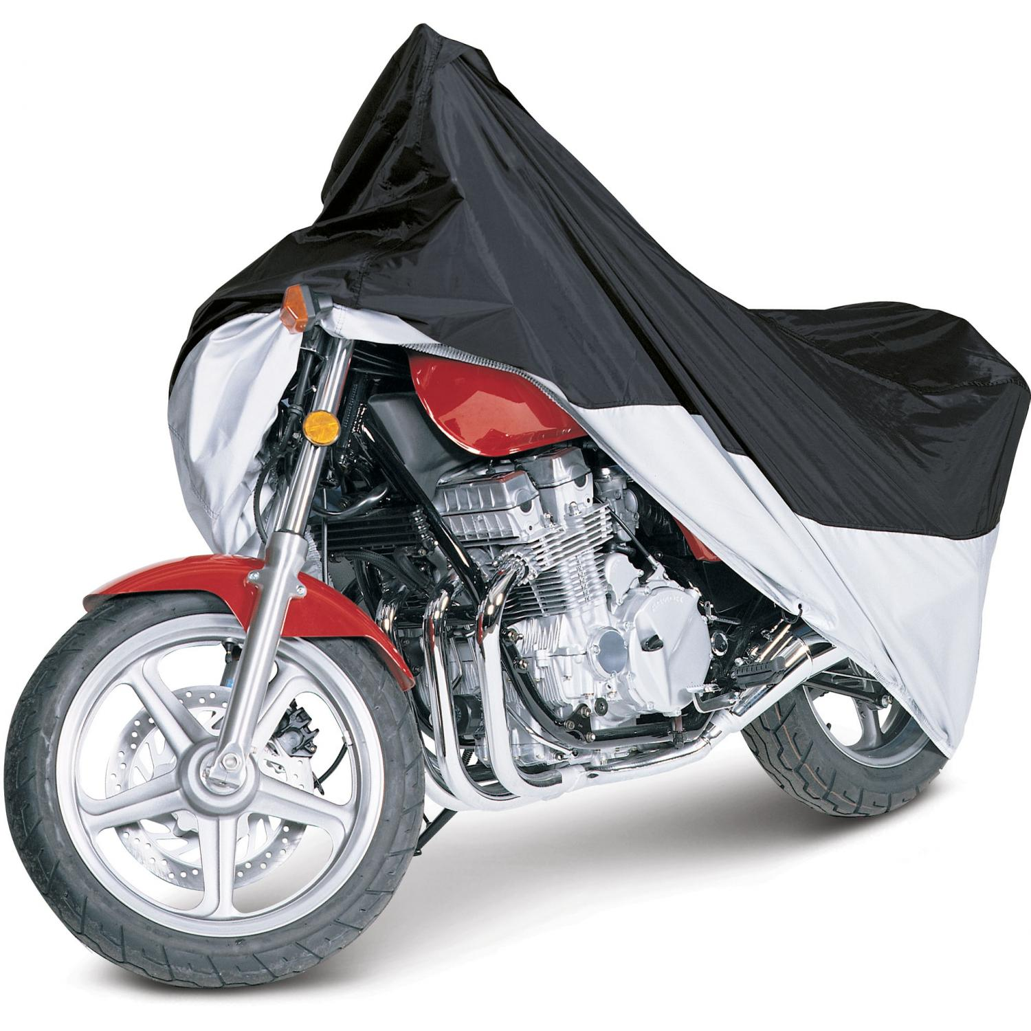 Classic Accessories MotoGear Motorcycle Cover - Black/Silver - Large