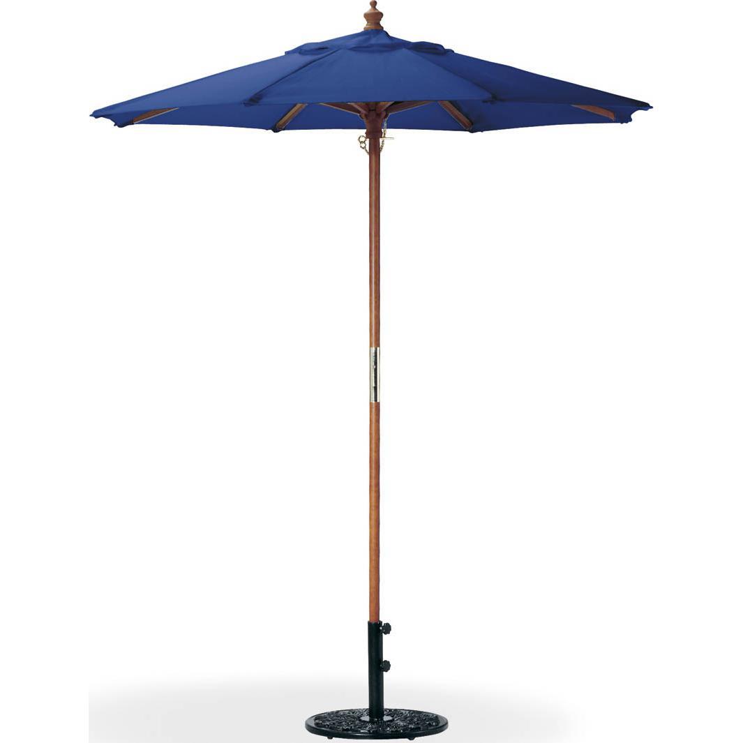 Oxford Garden 6 Ft. Octagon Wood Patio Market Umbrella - Navy Blue