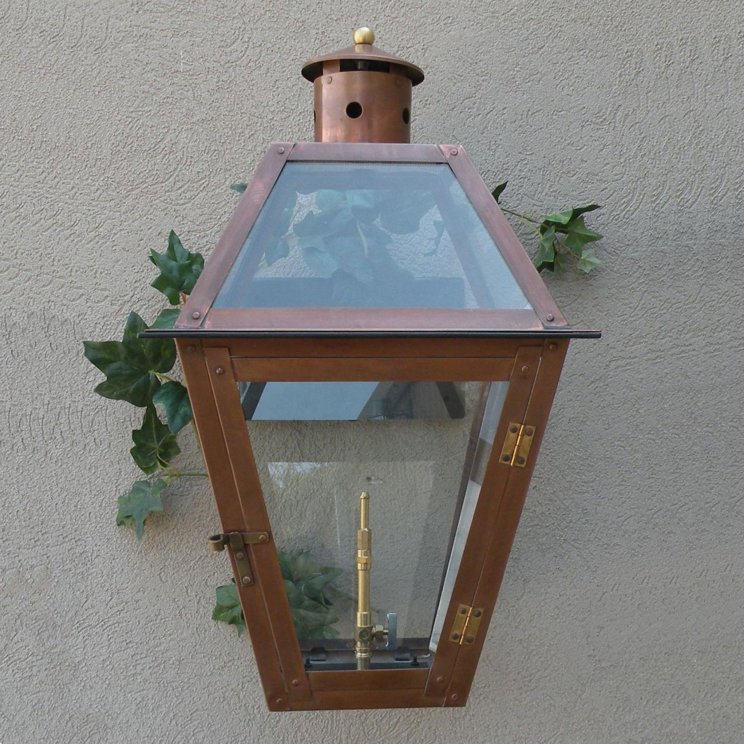 Regency Gl22 Chalmette Propane Gas Light With Open Flame Burner And Manual Ignition On Wall Mustache Mount at Sears.com