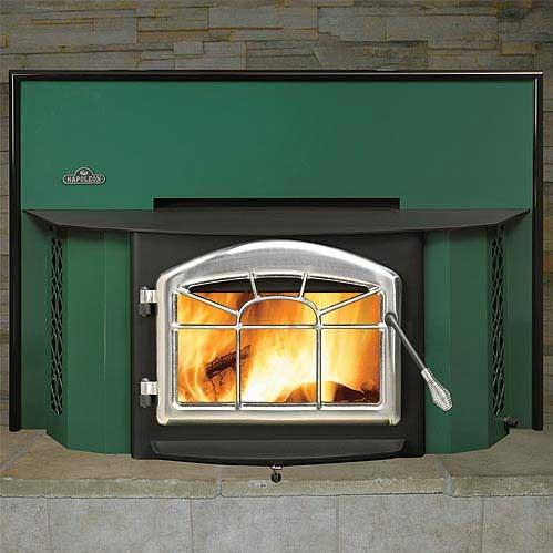 Napoleon EPI1402F Deluxe 25-Inch Wood Burning Fireplace Insert - Green