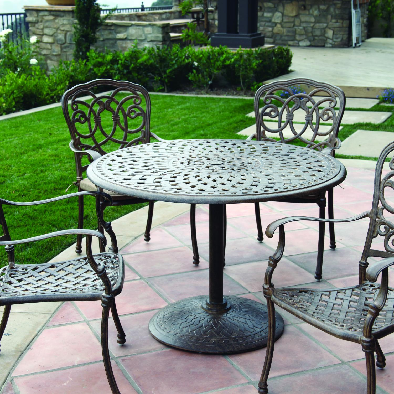 Darlee Florence 4-person Cast Aluminum Patio Dining Set - Antique Bronze at Sears.com