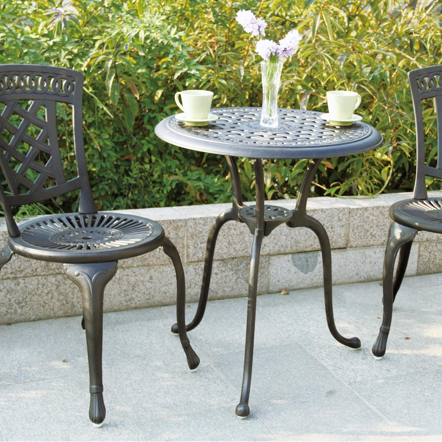 Darlee New Port 2-person Cast Aluminum Patio Bistro Set - Antique Bronze at Sears.com