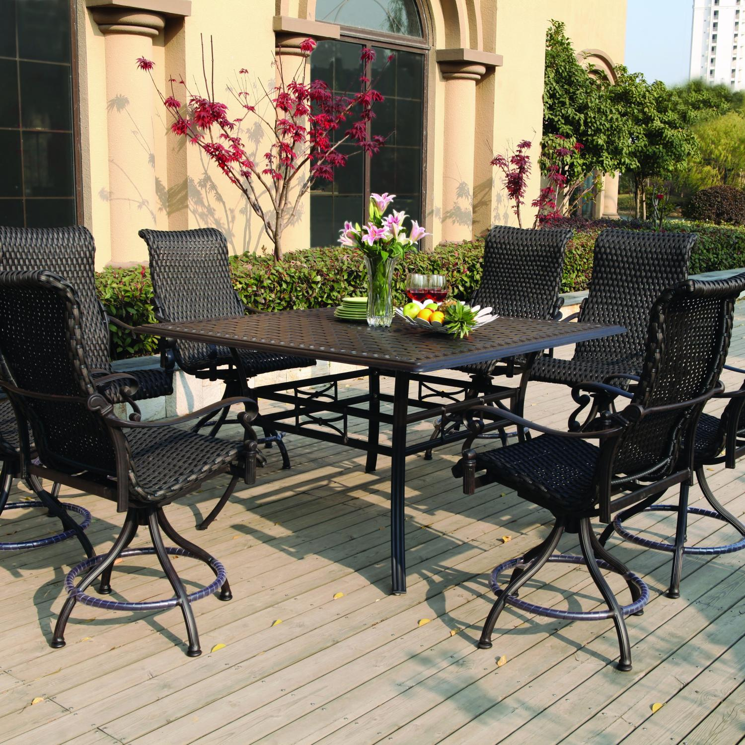 Lombardy 4 Person Sling Patio Dining Set Discount ID