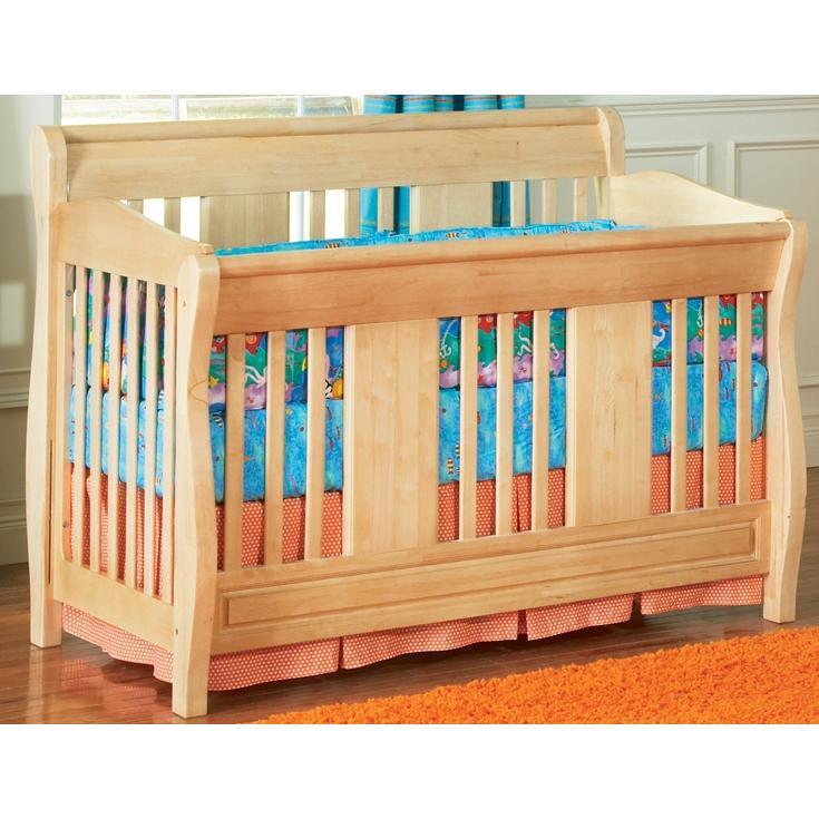 Atlantic Furniture 4033530 Versailles Convertible Crib / Full Bed Natural Maple