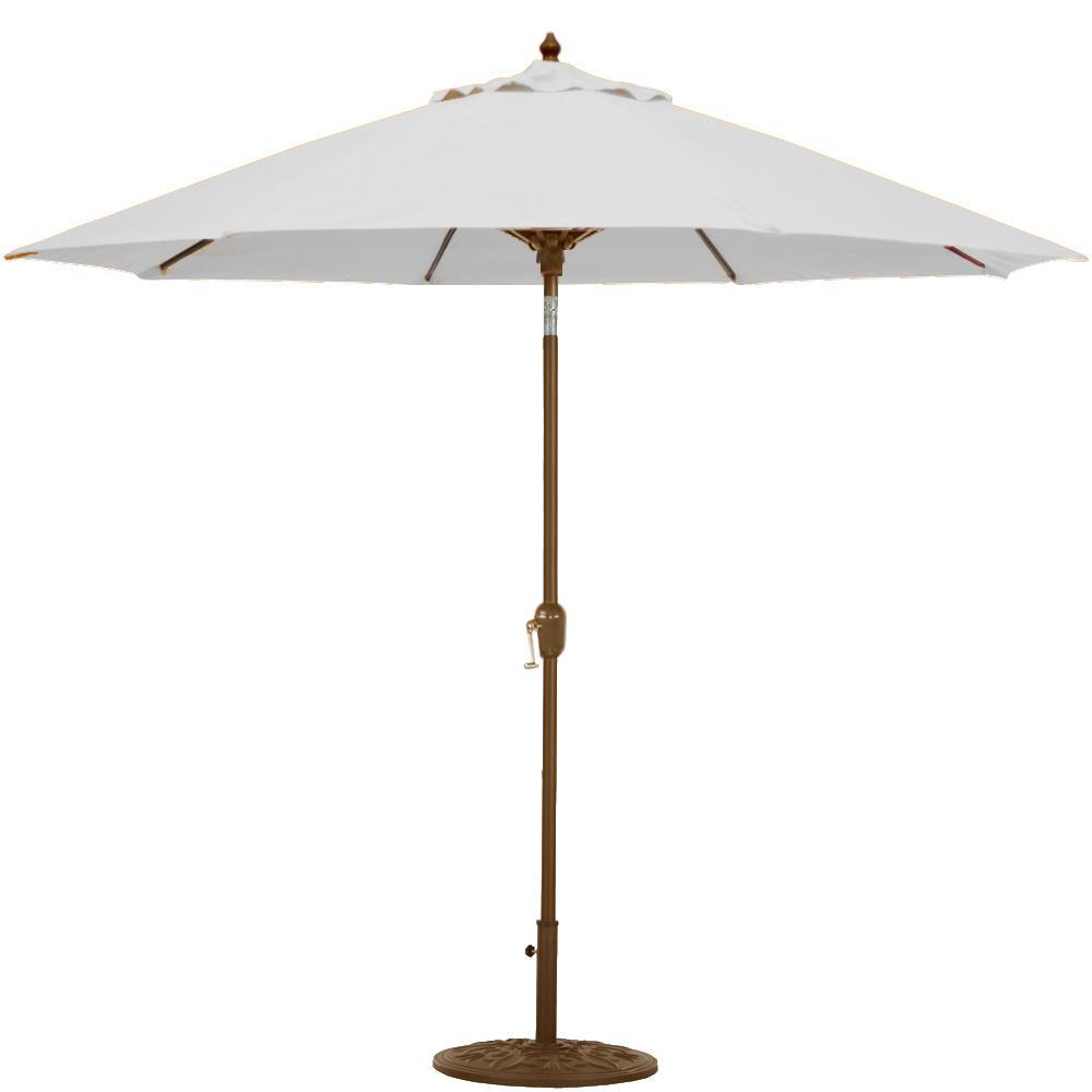 Galtech 9 Ft. Octagonal Hardwood Patio Market Umbrella W/...