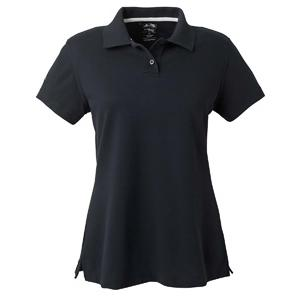 Adidas Golf Ladies ClimaLite Tour Pique Short Sleeve Polo Shirt XL - Black/White