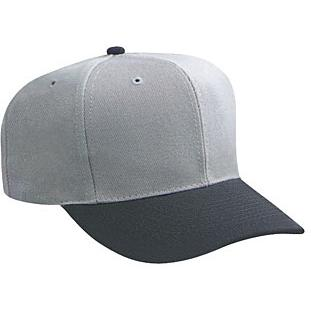 Otto Cap Wool Blend Pro-Style Sport Cap - Black / Gray, Discount ID 27-211-0314