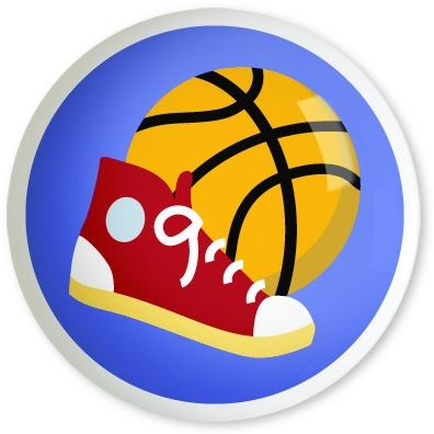Olive Kids Large Drawer Pull Knob - Game On Basketball